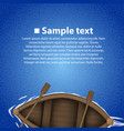 rowing boat background vector image