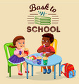 school lunch colorful poster vector image vector image