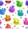 Seamless pattern with colorful bubble characters vector image vector image