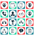 set of 16 management icons includes phone vector image vector image
