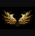 shiny angel wings vector image