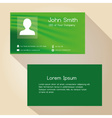 simple green abstract color business card design vector image vector image