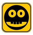 Smile face circle button vector image vector image