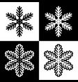 snowflake symbols icons simple black white set 2 vector image vector image