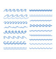 sound water waves set vector image vector image