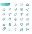 space astronomy thin line icons set vector image vector image