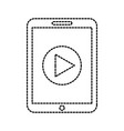 technology tablet device movie player button vector image vector image