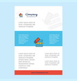 template layout for files copy comany profile vector image vector image