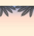 tropical sky at sunset with palm branches vector image vector image