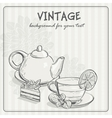 vintage background with tea and the torus vector image