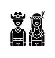 wild west black glyph icon vector image vector image