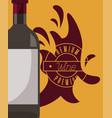 wine bottle splash premium vector image