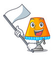 with flag modern table lamp isolated on mascot vector image