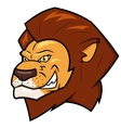 Smiling lion head vector image