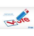 Ballot Vote Background vector image