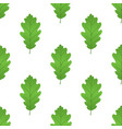 acorn leaf seamless pattern cartoon style vector image