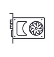 sound cardvideo card line icon sign vector image