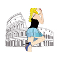 A big kiss from Rome vector image vector image