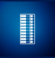 abacus icon isolated on blue background vector image vector image