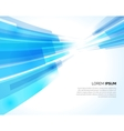 Abstract blue lines light business background vector image vector image