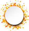 Background with orange drops vector image vector image