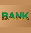 bank concept a business profits investment vector image