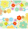 beautiful flower background art vector image