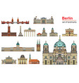 berlin colorful line art 1 vector image vector image