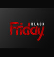 black friday sale typographic design hand drawn vector image