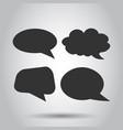 blank empty speech bubble icon set in flat style vector image