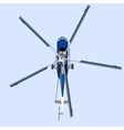 Blue helicopter MI 8 vector image