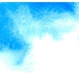 Blue watercolor textured background vector image vector image