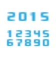 blurred numbers vector image vector image