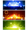 bright multicolored glowing banners vector image vector image