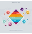 Business infographics concept with six stage vector image vector image