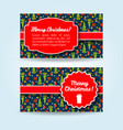 christmas holiday banners set vector image