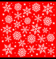 christmas snowflakes background design vector image vector image