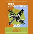 color vintage organic food banner vector image vector image
