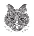coloring cat vector image