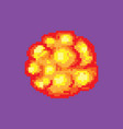 comic boom flame bang burst explode dynamite vector image vector image