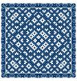creative carpet pattern blue color vector image vector image