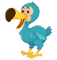cute dodo bird cartoon posing vector image