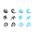different water waves logo elements template vector image