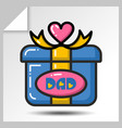 fathers day icons 4 vector image vector image