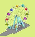 ferris wheel isometric vector image