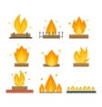 Fire flame isolated vector image vector image
