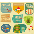 fishing stickers vector image vector image