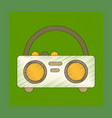 flat shading style icon tape recorder vector image vector image