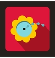 Flower spinkler icon flat style vector image