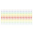 gay symbol shape halftone spectrum effect vector image vector image
